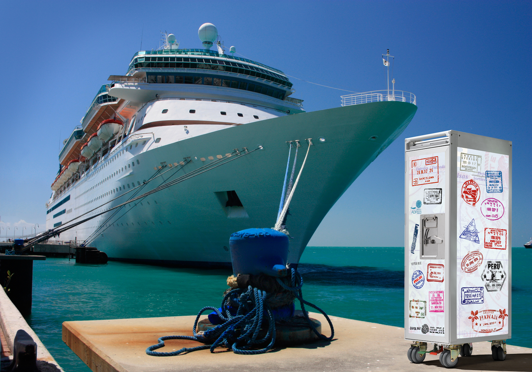skypak-passport-vacation-wine_bar-trolley-ship-yachting